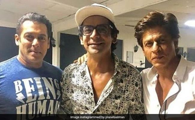 सलमान खान के शो पर डॉक्टर मशहूर गुलाटी ने काटा केक, जश्न में शामिल शाहरुख खान