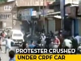 Video : CRPF Vehicle, Attacked By Protesters, Runs Over 3 In Kashmir, Sparks Row