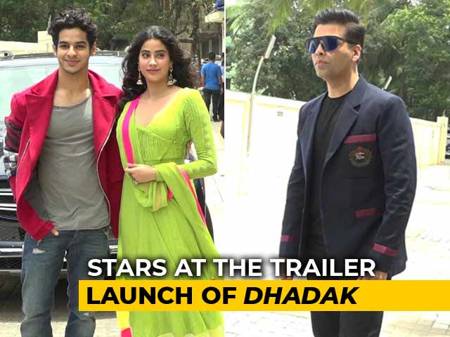 Janhvi Kapoor, Karan Johar & Other Stars Arrive At The Trailer Launch Of Dhadak