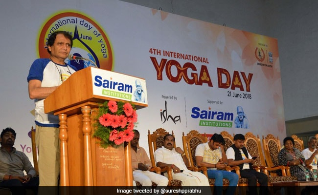 Suresh Prabhu Says Yoga Is 'India's Gift To The World'