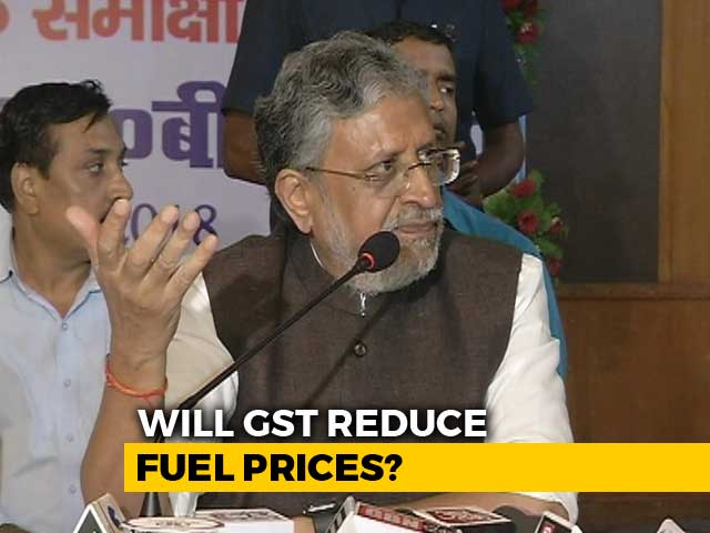 Video : BJP's Sushil Modi Deflates Centre's GST Way To Bring Down Fuel Prices