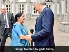 Foreign Minister Sushma Swaraj Holds Talks With Belgium's Deputy PM