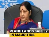 Video : For 14 Minutes, Sushma Swaraj's Plane To Mauritius Was Untraceable