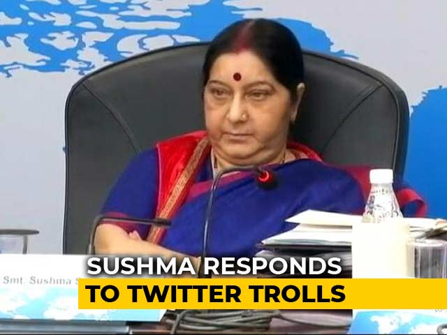 Video : Another Day, Another Troll. Sushma Swaraj's Takedown