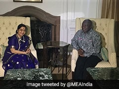 Sushma Swaraj Discusses Bilateral Ties With South African President