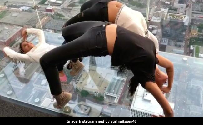 Sushmita Sen doing Yoga will make you take Yoga for life