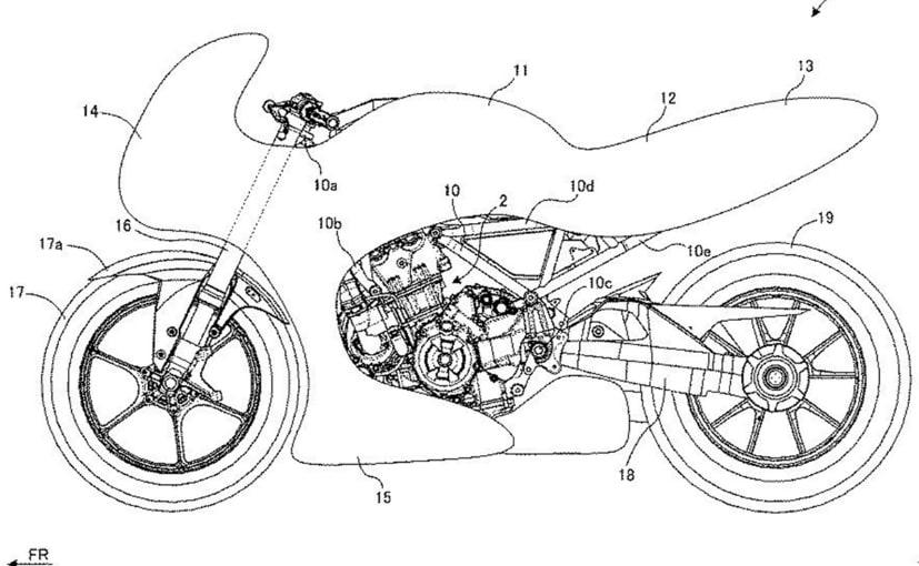 A new patent image shows a turbocharged Suzuki sportbike