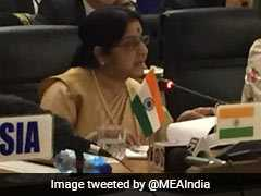 Sushma Swaraj Calls For Action Against Money Laundering, Terror Funding at BRICS Meet