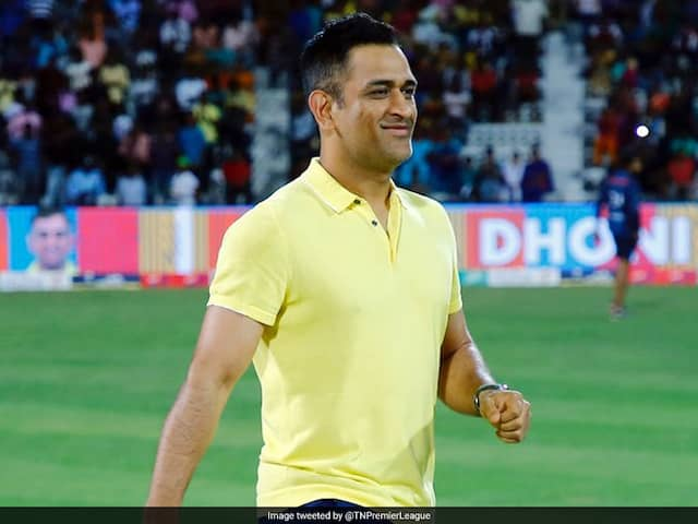 """TNPL: MS Dhoni Promises Fans That He Will """"Learn A Bit More Tamil"""" By Next IPL. Watch Video"""