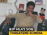 "Video : ""I Will Shoot You"": BJP Lawmaker's Son Threatens Jyotiraditya Scindia"