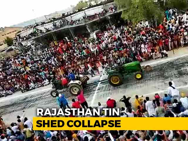 Video : On Video, Roof Collapses After Hundreds Climb To Watch Race In Rajasthan