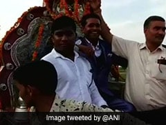 UP Dalit Groom Who Won Battle For <i>Baraat</i> Arrives In Style, With 150 Cops