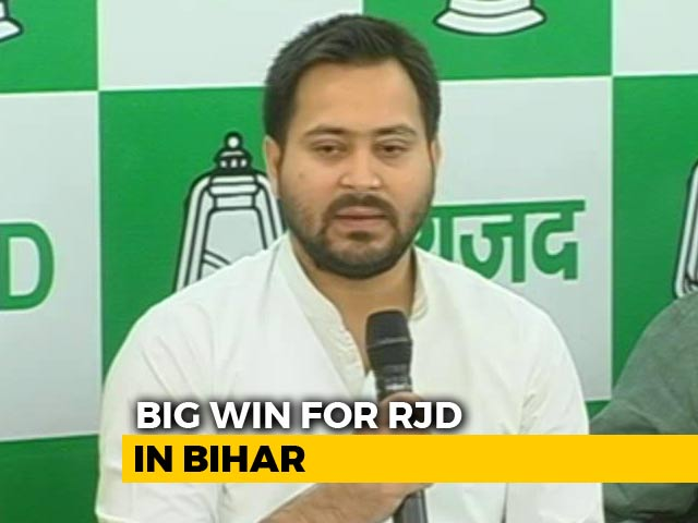 "Video : RJD Wrests Bihar Seat From Nitish Kumar's Party, Says ""Win Of Laluvaad"""