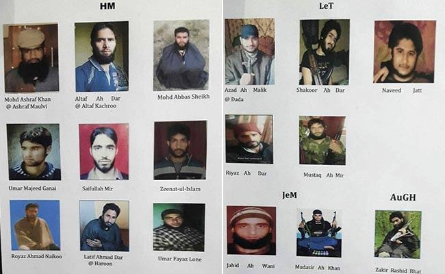 जम्मू-कश्मीर में सुरक्षाबलों के निशाने पर आतंकियों के कमांडर, टॉप 21 आतंकियों की सूची जारी