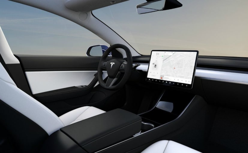 tesla model 3 performance gets white interior