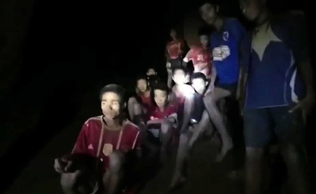 Dramatic Footage Of 12 Boys Found In Cave 9 Days After They Were Trapped