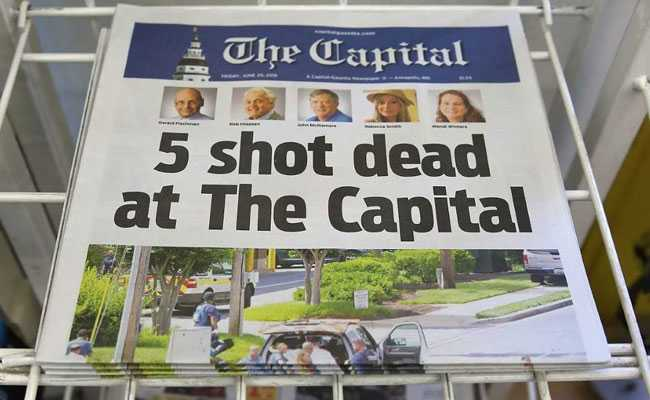 'Five Shot Dead At The Capital' : US Paper Covers Its Own Tragedy