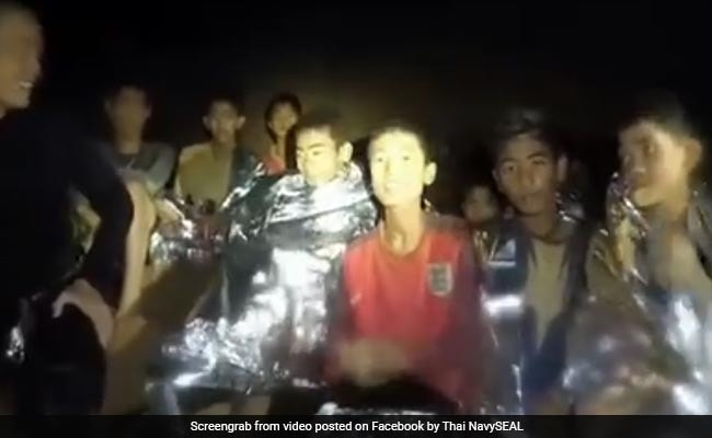New Navy Video Shows Thai Boys Trapped In Cave In 'Good Health'