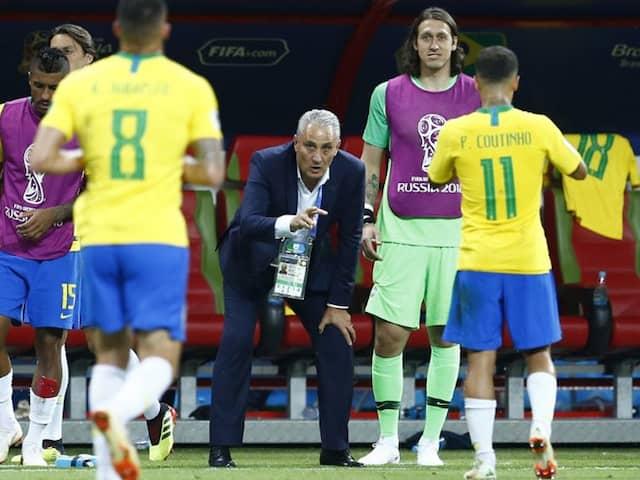 """World Cup 2018: """"Bitter"""" Brazil Boss Tite Keeps Quiet On Future"""