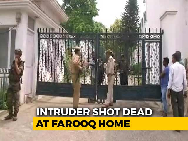 Video : Intruder Rams Farooq Abdullah's House With Car, Runs Inside; Shot Dead