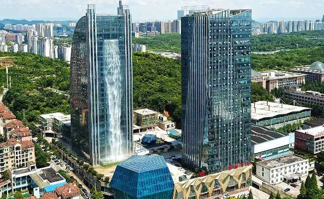 China Waterfall Skyscraper Hit By Torrent Of Ridicule