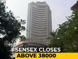 Video: Sensex Closes Above 38,000 For First Time As Banking Stocks Extend Gains