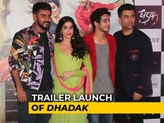 Janhvi & Ishaan At The Trailer Launch Of Dhadak