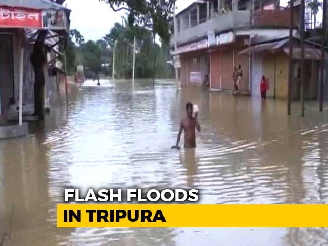 Video : Two Dead, Over 13, 000 Shifted To Relief Camps In Tripura Flashfloods