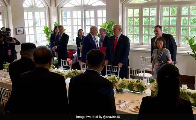 For Trump-Kim Lunch, Prawn Cocktail, Octopus, Haagen-Dazs Ice-cream