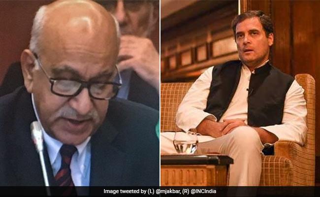 डोकलाम पर राहुल गांधी के बयान पर एमजे अकबर का पलटवार- शासन व्यवस्था की न कोई जानकारी, न 'बौद्धिक ज्ञान'