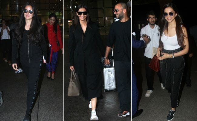 fa64cdc9 Katrina Kaif To Sonam Kapoor, Black Rules This Month's Celebrity Airport  Style