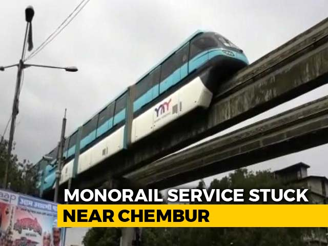 Video : Mumbai Monorail, Back On Track After 10 Months, Hits A Snag On Day 2