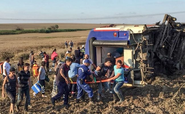 24 dead, hundreds hurt, as train derails after rain in Turkey