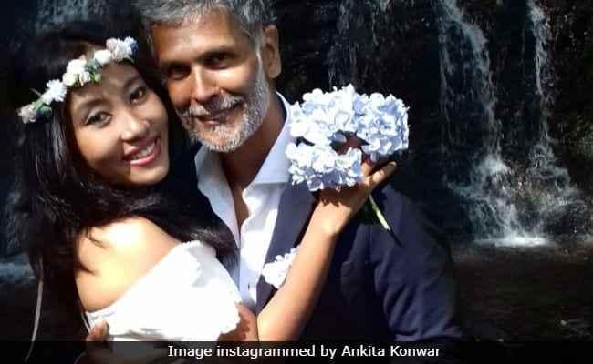 Pics From Milind Soman And Ankita Konwar's Dreamy 'Barefoot Wedding' In Spain