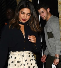 Pics From Priyanka's Birthday Dinner With Nick. Isn't It Romantic?