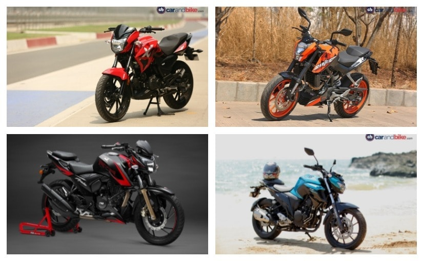 The segment comes with the Hero Xtreme 200R, KTM 200 Duke, Yamaha FZ25 & TVS Apache RTR 200 4V