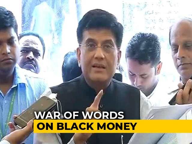 Video : Piyush Goyal Takes On Rahul Gandhi Over Black Money In Swiss Banks