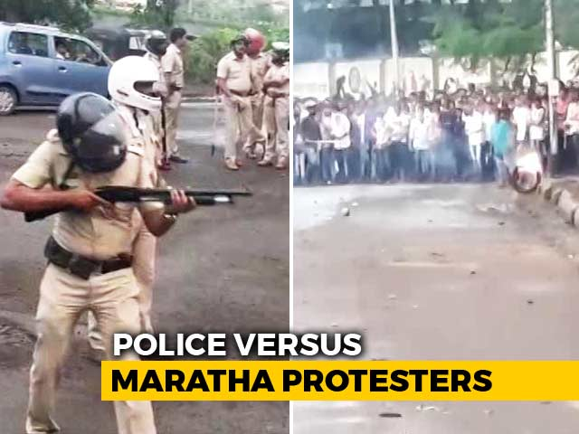 Video : Maharashtra Quota Protesters Clash With Police In Raigad