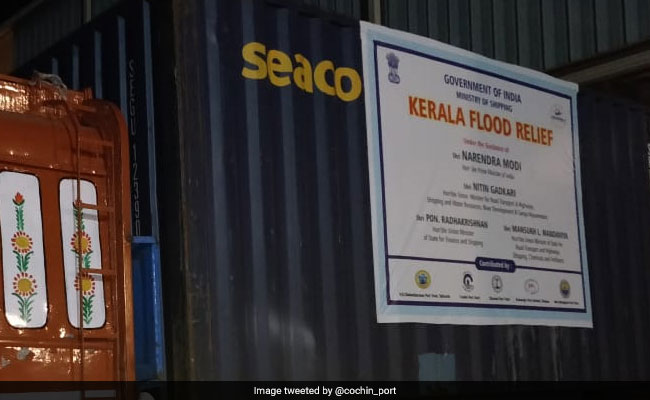 More Relief Materials For Flood Victims Arrive At Kerala's Cochin Port