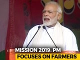 "Video : PM Modi In Midnapore Says ""Working To Double Farmer Income By 2022"""