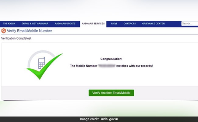 uidai verify mobile   uidai website