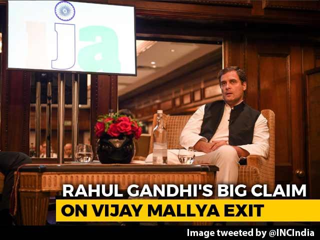 Video : Vijay Mallya Met BJP Leaders Before Leaving India, Says Rahul Gandhi