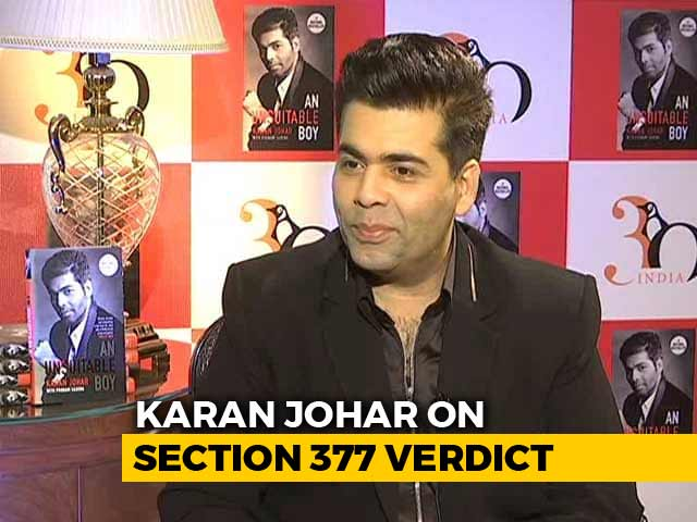 "Video : ""Country Gets Oxygen Back,"" Tweets KJo On Section 377"