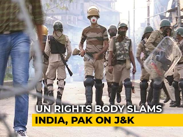 "Video : India Rejects UN Report On Jammu and Kashmir As ""Fallacious, Motivated"""