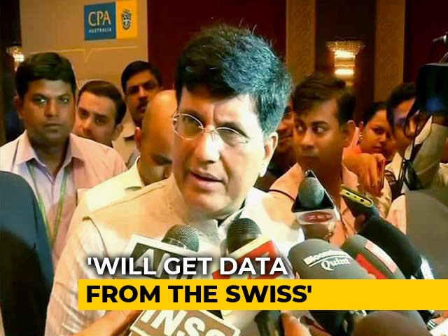 "Video : ""Will Get Black Money Data From Switzerland By Next Year"": Piyush Goyal"