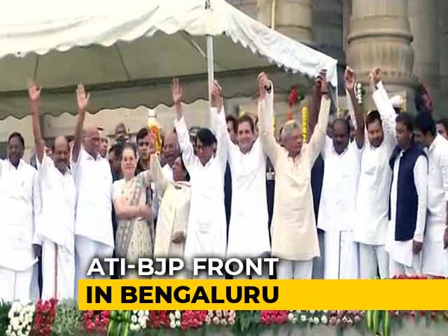 JDS' Kumaraswamy Takes Oath Amid Opposition Show Of Unity