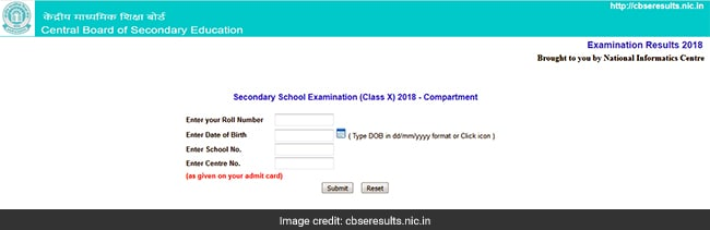 CBSE 10th Compartment Result 2018 Declared At Cbse.nic.in, Cbseresults.nic.in