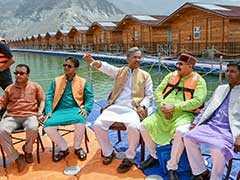 Uttarakhand Cabinet Meets Aboard Floating Restaurant On Tehri Lake