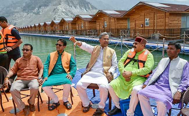 Uttarakhand Cabinet Meets Aboard Floating Restaurant On Tehri Lake