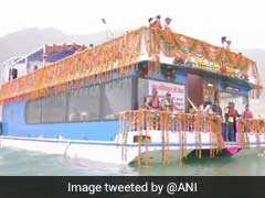 Part Of Floating Restaurant Submerges In Uttarakhand's Tehri Lake